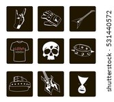 heavy metal icons | Shutterstock .eps vector #531440572