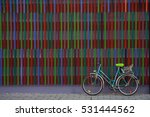 Bike At The Colorful Wall In...