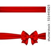 red ribbon bow horizontal... | Shutterstock . vector #531445825