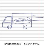 truck icon vector. delivery van ...   Shutterstock .eps vector #531445942