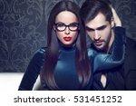 sexy smart confident woman... | Shutterstock . vector #531451252