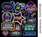 neon bar illumination vector... | Shutterstock .eps vector #531455338