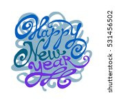 "vector lettering ""happy new... 
