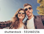 two lovers making a comic... | Shutterstock . vector #531460156