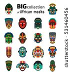 tribal ethnic african mask big... | Shutterstock .eps vector #531460456