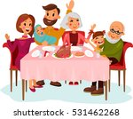 family on traditional holiday... | Shutterstock .eps vector #531462268