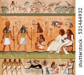 ancient egypt scene. murals... | Shutterstock .eps vector #531464932