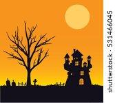 halloween background | Shutterstock .eps vector #531466045