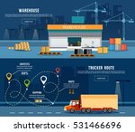 logistic banner  delivery... | Shutterstock .eps vector #531466696