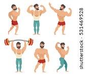 set of muscular  bearded mans...   Shutterstock .eps vector #531469528