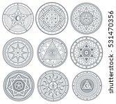 occult  mystic  spiritual ... | Shutterstock .eps vector #531470356