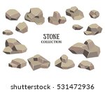 cartoon stone set. grey rock... | Shutterstock .eps vector #531472936