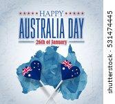 polygonal map  26 january happy ...   Shutterstock .eps vector #531474445