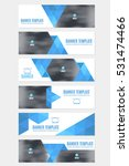 website banner set  horizontal... | Shutterstock .eps vector #531474466