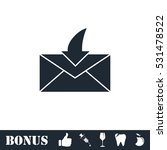 envelope icon flat. vector...