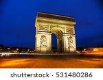 the triumphal arch  arc de... | Shutterstock . vector #531480286