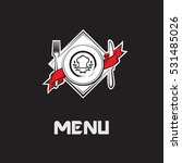 restaurant menu design with... | Shutterstock .eps vector #531485026
