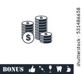 dollars money coin icon flat.... | Shutterstock .eps vector #531486658