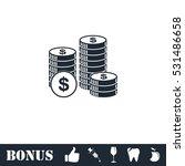 dollars money coin icon flat.... | Shutterstock .eps vector #531486658