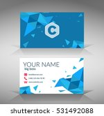 blue polygonal clean style... | Shutterstock .eps vector #531492088