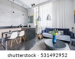 modern style interior with... | Shutterstock . vector #531492952