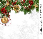 christmas decoration with bells ... | Shutterstock . vector #531493798