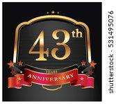 43 years golden anniversary... | Shutterstock .eps vector #531495076