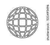 global sphere symbol icon... | Shutterstock .eps vector #531495496