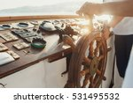 sun shines over the wooden... | Shutterstock . vector #531495532
