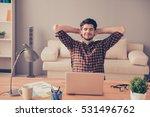 portrait of happy tired man... | Shutterstock . vector #531496762