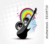 vector abstract guitar colorful ... | Shutterstock .eps vector #53149714