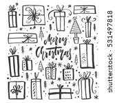 collection of handdrawn... | Shutterstock .eps vector #531497818