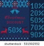 vector illustration of knitted... | Shutterstock .eps vector #531502552