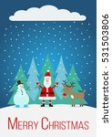 christmas card with santa claus ... | Shutterstock .eps vector #531503806