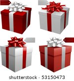 red vector gift boxes | Shutterstock .eps vector #53150473