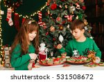 the children sitting near... | Shutterstock . vector #531508672