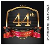 44 years golden anniversary... | Shutterstock .eps vector #531509026