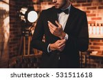 close up of stylish man in...   Shutterstock . vector #531511618