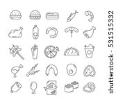 set of vector icons with meat | Shutterstock .eps vector #531515332