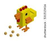 chicken isometric domestic...   Shutterstock .eps vector #531515416