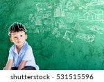 happy little asian boy kid in... | Shutterstock . vector #531515596