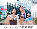 portrait of young happy couple... | Shutterstock . vector #531515986
