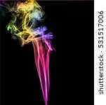 abstract multicolored smoke on... | Shutterstock . vector #531517006