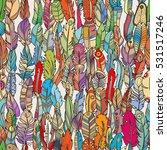 seamless pattern with random... | Shutterstock .eps vector #531517246