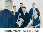 group of happy colleagues... | Shutterstock . vector #531518758