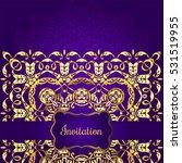 vintage background  antique ... | Shutterstock .eps vector #531519955