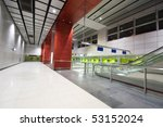 large business hall in modern...