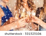 closeup of girls celebrating... | Shutterstock . vector #531525106