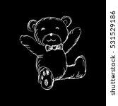 teddy bear with tie. sketcht... | Shutterstock .eps vector #531529186