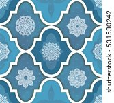 seamless patchwork pattern from ... | Shutterstock .eps vector #531530242